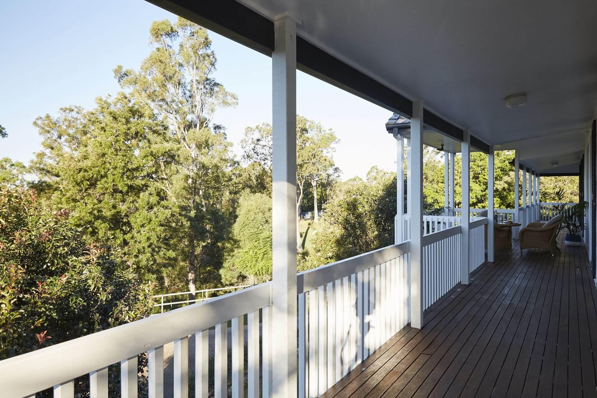 Upstiars veranda view